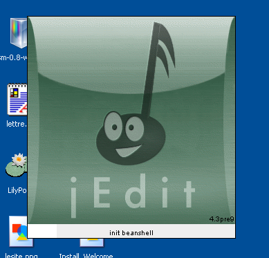 jEdit customized splash screen